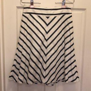 Talbots knee length linen cotton skirt